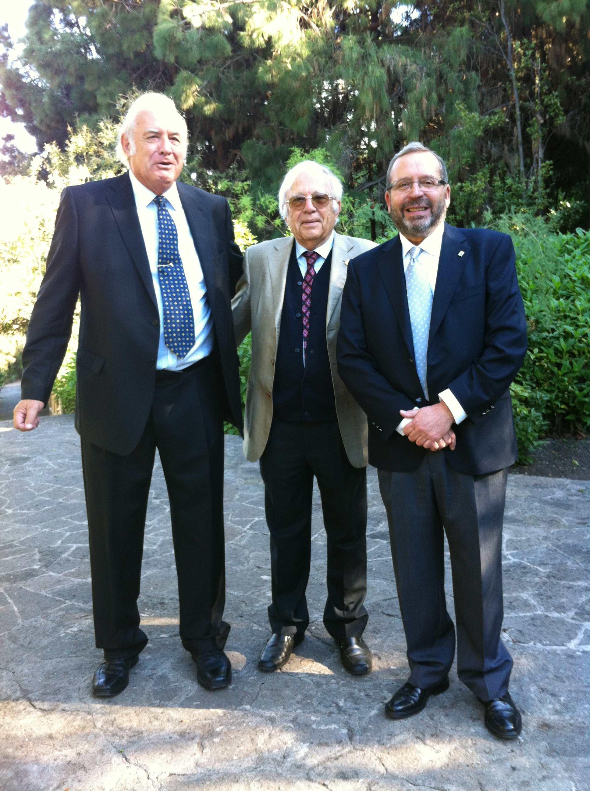 David Bramwell, Wolfredo Wildpret y Juan Manuel López, 2012 -