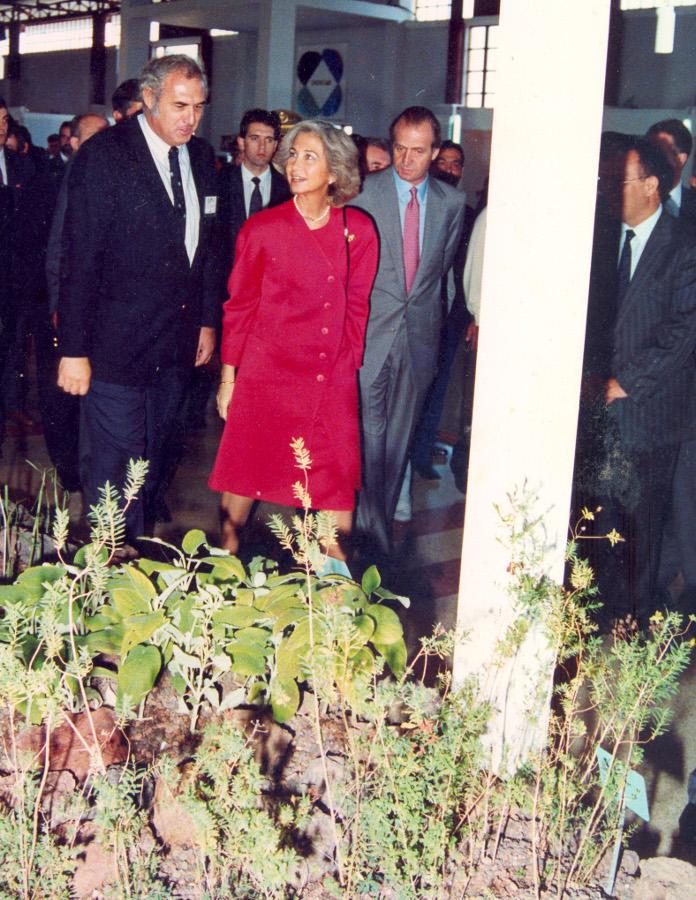 David Bramwell con los Reyes de España, INFECAR 1993 -